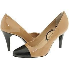 Gabriella Rocha Chancely Bone/Black Patent Pumps/Heels