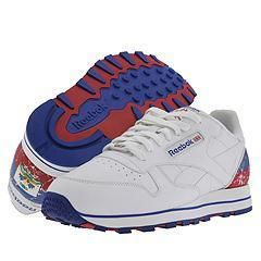Reebok Lifestyle Classic Leather Flag White/Dark Royal/Red   Haiti