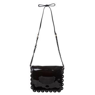 See by Chloe Poya Black Patent Leather Crossbody Bag