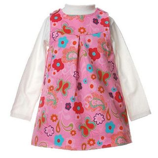 Flapdoodles Pink Floral Baby Girls Outfit