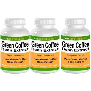 3 BOTTLES Green Coffee Bean Extract 800mg per serving 270