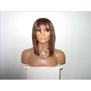 Star Flow Dark Auburn Full Lace 28 inch Human Hair Wig