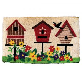 Deluxe Bird House Design Coir Mat (16 x 27)