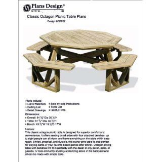 Traditional Round Picnic Table / Benches Woodworking Plans
