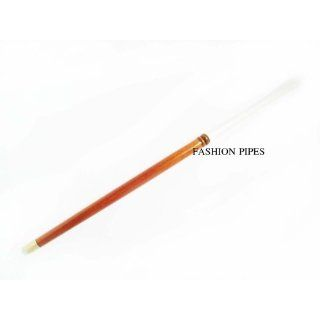 Long 10.8/275 mm Slim Cigarette Holder Light Brown WHITE STEM Audrey