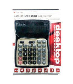 Sentry Deluxe Desktop Calculator, Black (CA277) Office
