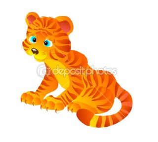 Cartoon tiger, vector illustration  Stock Vector © marina99 #2219182