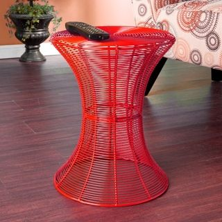 Cordoba Indoor/ Outdoor Red Round Side Table