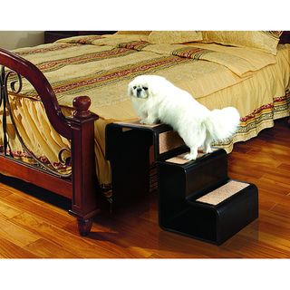 Two in one Convertible Walnut finish 1 2 3 Pet Step with Hand Grip
