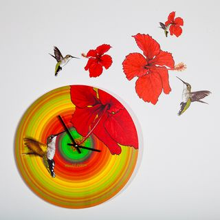 Maxwell Dickson Humming Bird 15 inch Wall Clock