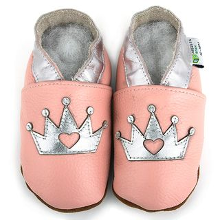 Little Princess Silver Crown Soft Sole Leather Baby Shoes