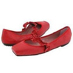 Jaime Mascaro Blunt Toe Mary Jane Coton Rojo (Red)