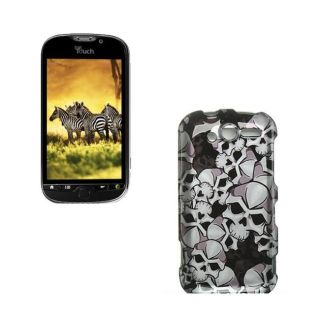 HTC myTouch 4G Black Skull Case
