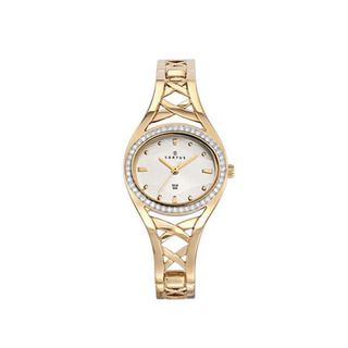 Certus Paris Womens Gold tone Brass Stones Encrusted Watch