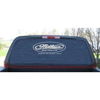 Mathews Solocam Oval Hunting Rear Window Decal 9 X 24