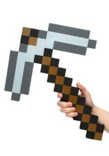 Think Geek Minecraft Pick Axe Foam Weapon Action Figure
