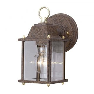 Antiqued Silver 1 light Outdoor Wall Sconce