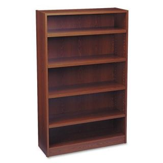 HON Heavy duty Signature Series 5 shelf Mahogany Bookcase