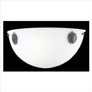 Neo Classical ADA Flush Mount Wall Sconce in Volcano Glass