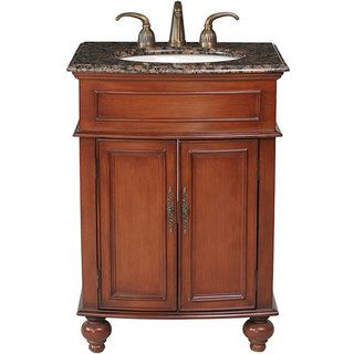 Stufurhome Prince 26 inch Single Sink Granite Top Vanity