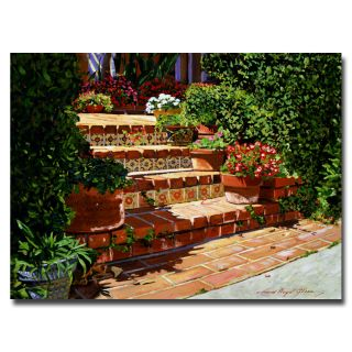 David Glover A Spanish Garden Canvas Art
