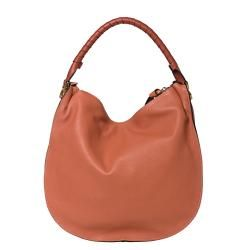 Chloe Marcie Large Coral Leather Hobo Bag