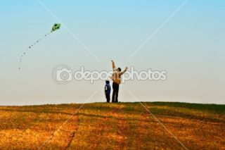 Mother and son fly a kite  Stock Photo © Petr Jilek #2384123