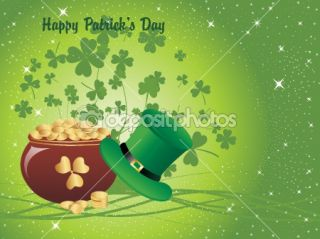 Wallpaper for happy st patrick day  Vector Stock © alliesinteract