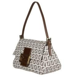 Fendi 8BR180 Forever Mama Mini Flap Canvas Shoulder Bag