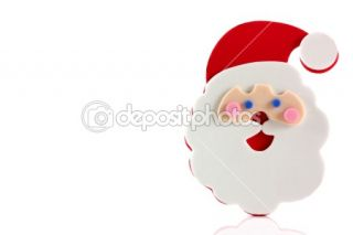Father Christmas cartoon face  Stock Photo © simon bratt #2435581