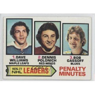 Penalty Min. Leaders/Tiger Williams/Dennis Polonich/Bob Gassoff Bob