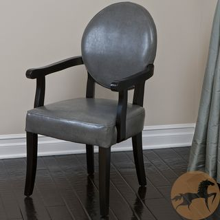 Christopher Knight Home Henley Grey Wood Dining Room Arm Chair with
