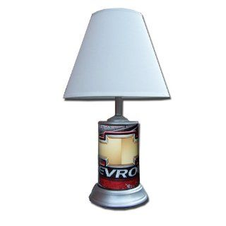 Chevy Logo Camo (Bowtie Emblem) 18 Tall Table Lamp w Shade :