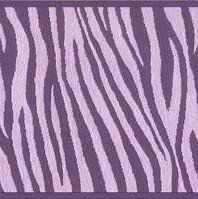 Wallpaper Border Designer Animal Print Purple Zebra