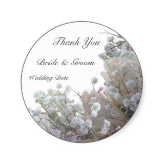 Wedding Thank You Round Sticker