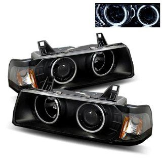 BMW 325is 1992 1995 CCFL Halo Projector Headlights Black G2 (Fits