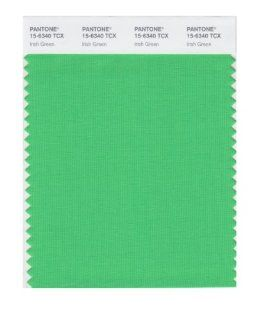 PANTONE SMART 15 6340X Color Swatch Card, Irish Green