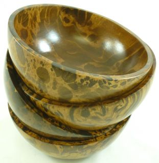 Mango Wood 4 piece Individual Bowl Set (Thailand)