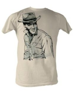 Elvis Presley   Wild West Mens T Shirt In Dirty White