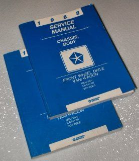 1988 Chrysler Front Wheel Drive Van Wagon Service Manuals (Dodge