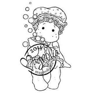 Princes & Princesses Cling Stamp Tilda With Bathcup