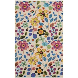 Safavieh Four Seasons Stain Resistant Hand hooked Ivory Rug (36 x 56