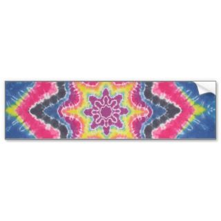 Tie Dye Star Bumper Stickers
