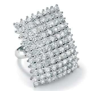 Ultimate CZ Sterling Silver Cubic Zirconia Square Ring