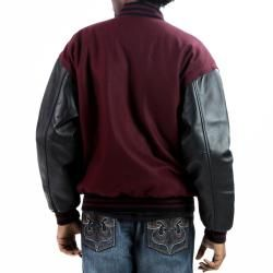 United Face Mens Leather/Wool Varsity Jacket