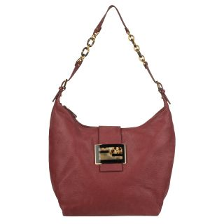 Fendi Forever Leather Hobo Bag