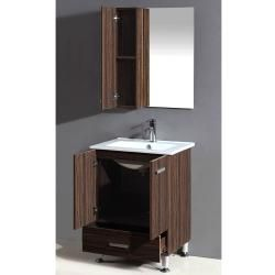 Silkroad Exclusive Modern Single Sink Bathroom Vanity Cabinet Set