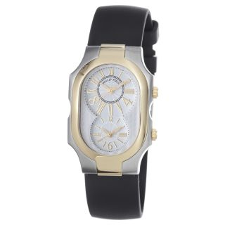 Philip Stein Womens Signature Two Tone Dual Time Watch