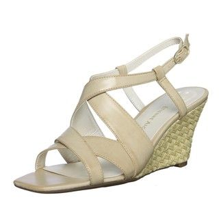 Etienne Aigner Womens Ashton Leather Wedges