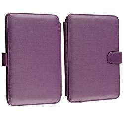 Purple Leather Case for  Kindle 3